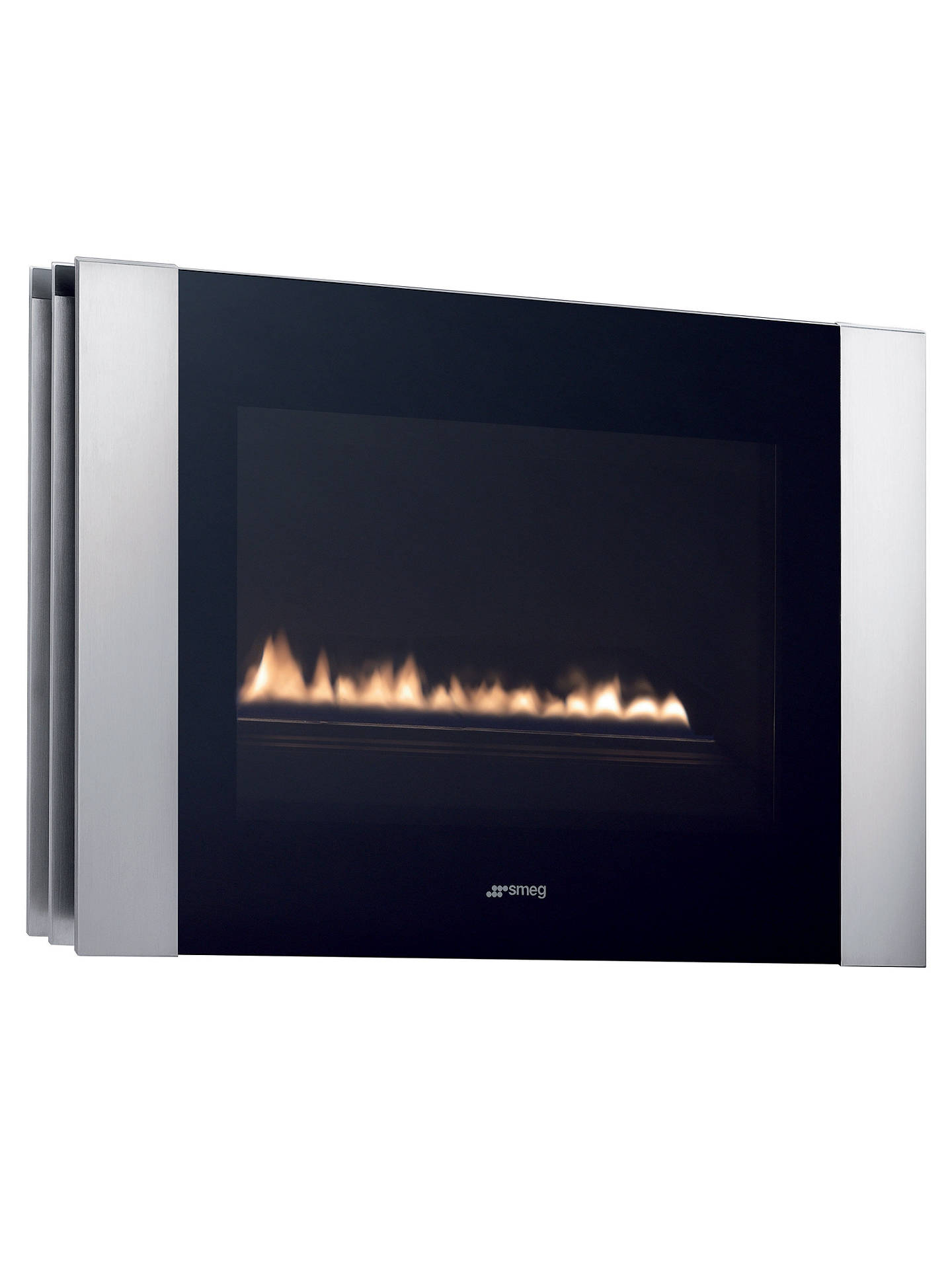 Wall Mounted Natural Gas Fireplace Luxury Smeg L23lin Flueless Gas Fire Stainless Steel