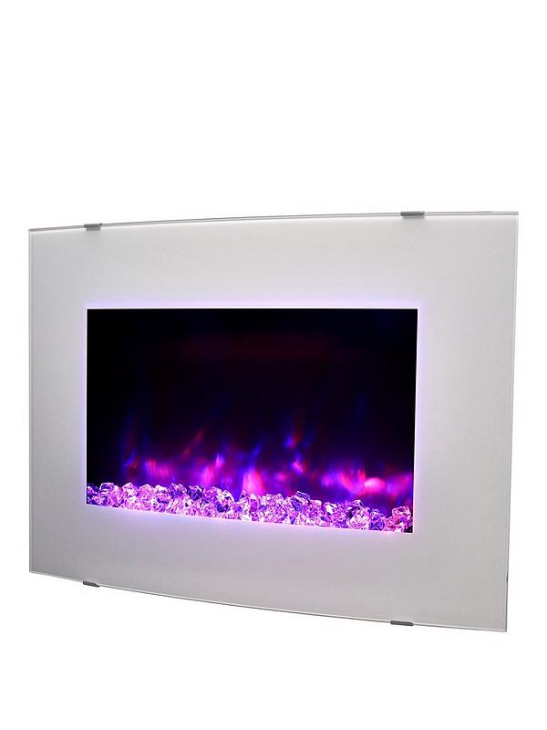 Wall Mounted Natural Gas Fireplace New Swan Curved Wall Mounted Electric Fire White Pebble