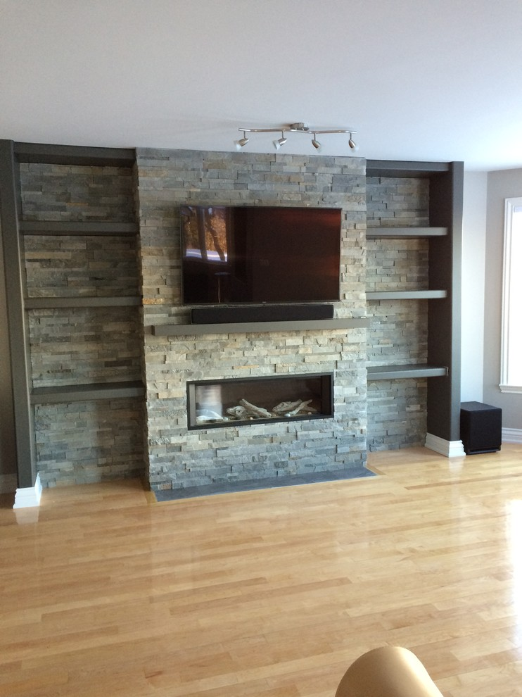 Wall Mounted Natural Gas Fireplace New Television Above Valor Gas Fireplace with Stone Cladding