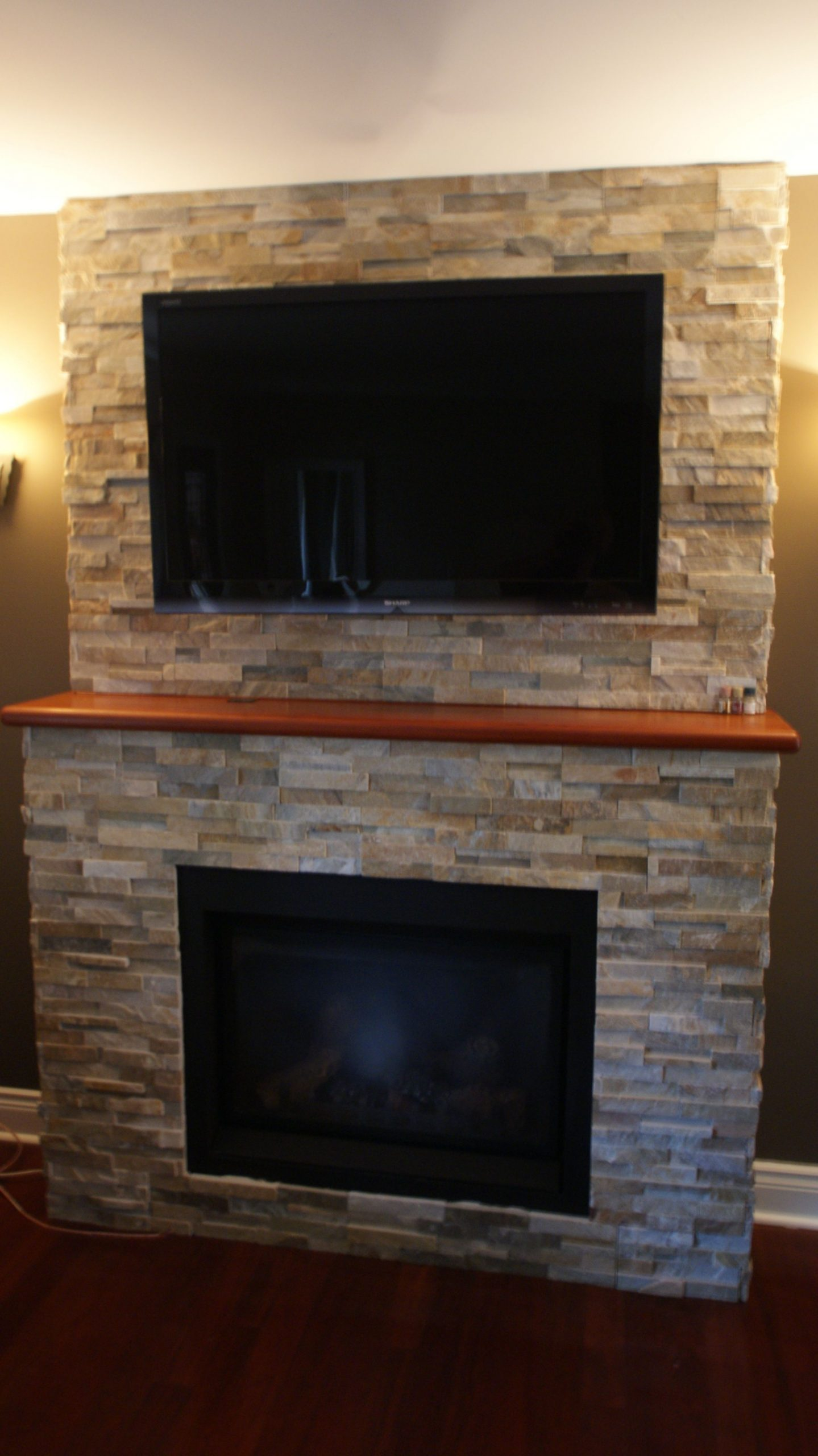 Wall Mounted Natural Gas Fireplace Unique Natural Stone Fireplace Tv Mounted Over Fieplace Gas