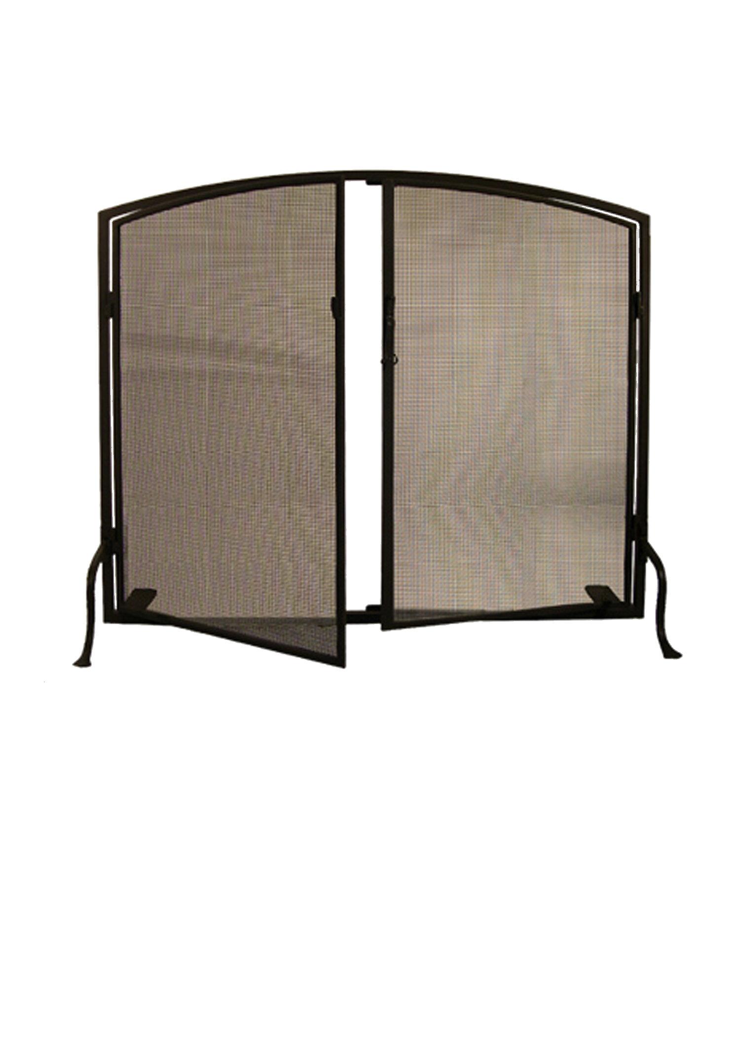 prime single panel fireplace screen