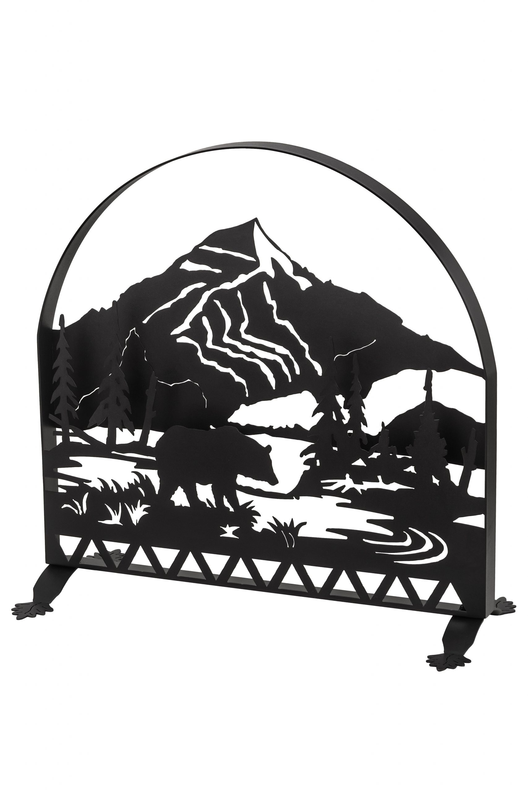 bear creek single panel fireplace screen