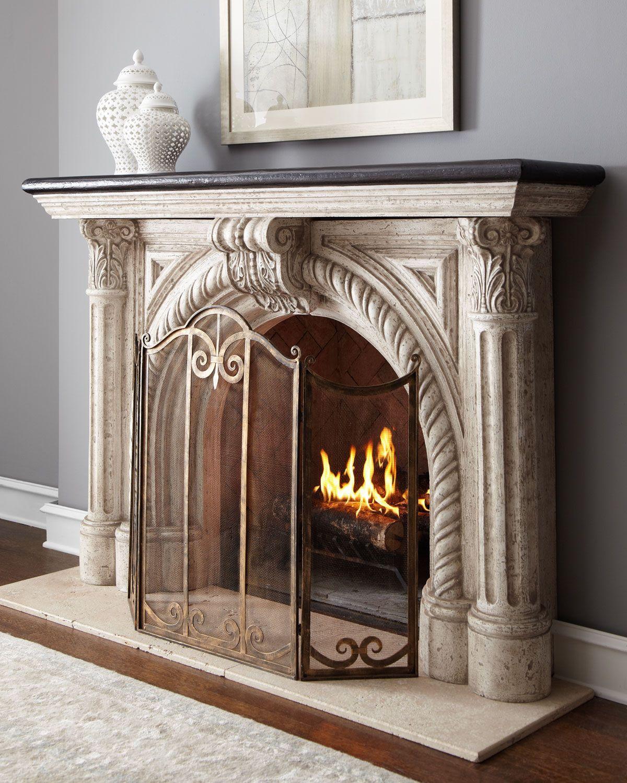 Wayfair Fireplace Screen Luxury Rope Edge Fireplace Mantel